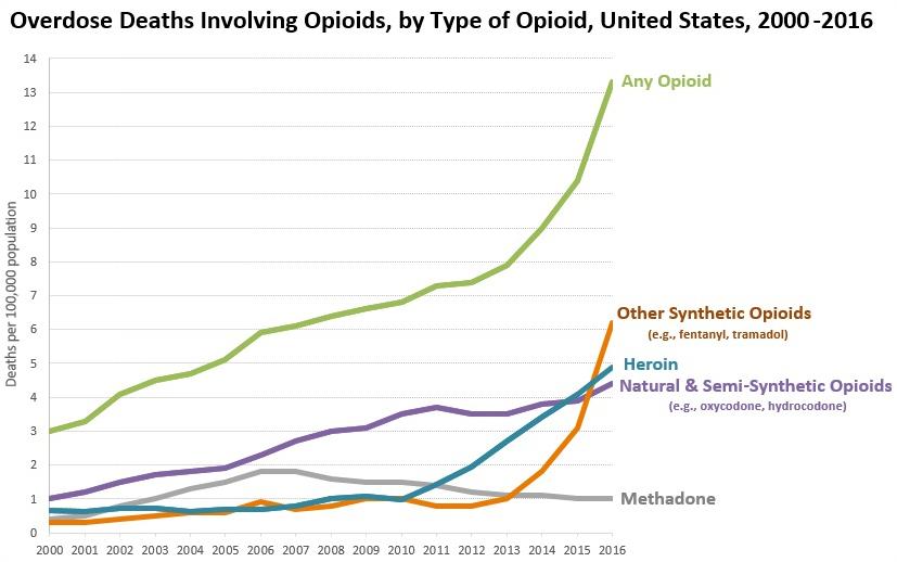 opioid death timeline